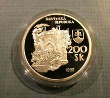 1998 Slovak Rep First Steam Engine Locomotive Train Railway Proof Coin Slovakia