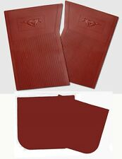 NEW! 1964-1973 Ford Mustang Maroon Floor mats Molded Rubber Set of 4 Front Back