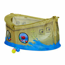 Bällebad Piratenschiff mit 50 Bällen Piratenboot Bällepool Set Bällebecken offen