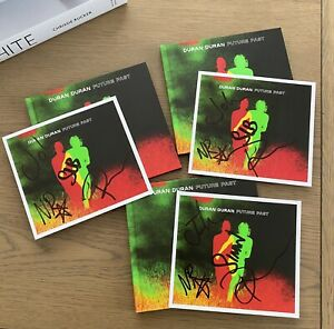 DURAN DURAN FUTURE PAST Hand Signed Autographed Art Card With Deluxe  CD Album