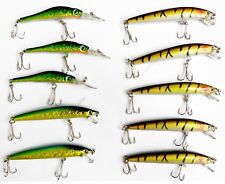 SET DI 10 PEZZI ESCA ARTIFICIALE STRIKER MINNOW LURE LURES TIPO RAPALA