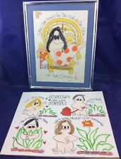 2 Cartoon Drawings By Michele Nicole Wesley Whimsatoons 1975 Pop Art People