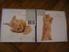 Noël câlin ginger kitten cat 10 cartes twin pack luxe noël cartes foil