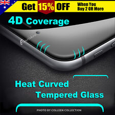 9H 4D Curved Full Cover Black Tempered Glass Screen Protector For iPhone 6/6s