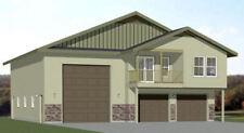 44x48 Apartment with 2-Car 1-RV Garage - PDF FloorPlan - 1,645 sqft - Model 5