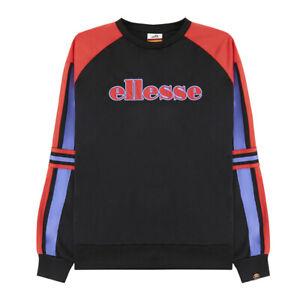 Ellesse Womens Cervinia Sweatshirt Black Color Block Active Wear SGC07280-BLK