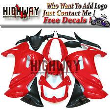 Red Black ABS Fairings Fit Kawasaki ER-6F Ninja 650 06-08 Bodywork Kit Body work