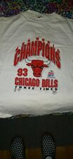 New listing Chicago Bulls 1993 Three Time NBA Champs T-Shirt L New and Stored