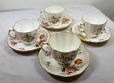 Royal Crown Derby Posies   Tea cups and saucers x 4