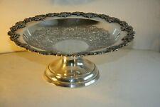 Antique Silver plated pedestal Fruit Bowl