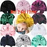 Baby Toddler Girls Bow Knot Turban Cap Cotton Headwrap India Headband Beanie Hat
