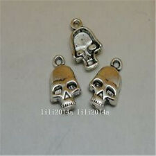 20pc Tibetan Silver SKULL Charm Beads Pendant accessories Findings  PL670