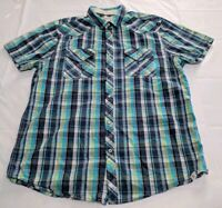 Roebuck And Co Mens Shirt Size Large Pearl Snap  Western Rockabilly Rodeo