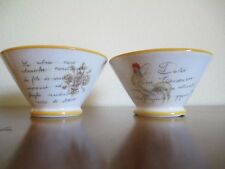 DERUTA, ITALY, 5 3/4 inch Rooster -  Le Dolci Cereal Bowls, Set of Two