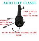 30 Street Hot Rod Stainless Tilt Steering Column Floor Shift Chevy Gm Black