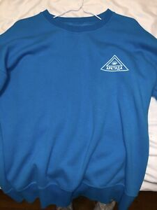 Gosha Rubchinskiy Long Sleeve Sweatshirt Blue Size Medium