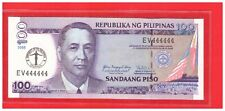 EV 444444 2008 PHILIPPINES 100 peso UP Centennial 100th Anniversary Solid