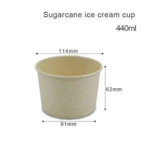 Take Away Containers Sugarcane Paper Bowl without pp Lid 200pcs/440ml