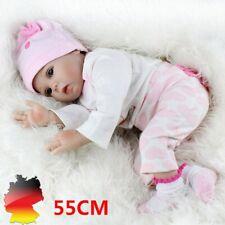 55cm Reborn Baby Puppe Lebensecht Handgefertigt Weich Silikon-Vinyl Mädchen DHL