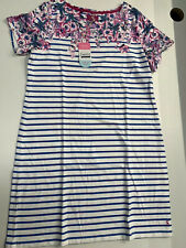 Joules Riviera Dress Size 16 Floral Stripe- new with tags