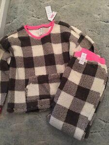 justice sherpa pajamas size 16/18 plus NWT