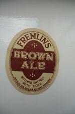 MINT FREMLINS BROWN ALE MAIDSTONE KENT BEER BOTTLE LABEL