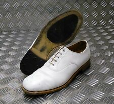 Genuine British Navy White Leather Parade / Dress Shoes Men/Woman`s - GRADE 2
