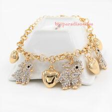 bracciale braccialetto donna elefante strass dorato BR24