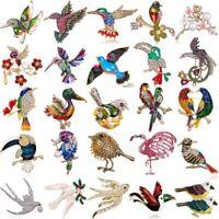 Fashion Spring Brooch Pin Animal Bird Crystal Pearl Enamel Women's Jewelry Gift