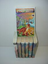 Set of 7 The Land Before Time Childrens Animated Video Tape VHS Movies Videos