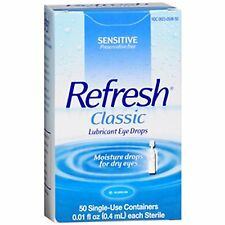 3 Pack - Refresh Classic Lubricant Eye Drops Sensitive 50 Each
