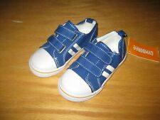 NWT Gymboree Straight A Athletes size 10 Blue Striped Canvas Tennis Shoes