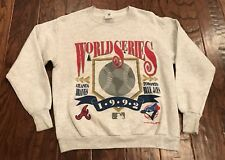 Vintage World Series Sweatshirt Toronto Blue Jays Atlanta Braves 90s MLB Men's M