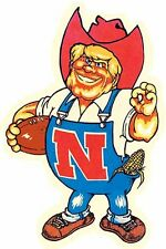 University of Nebraska CORNHUSKERS Football Vintage-Looking Travel Decal/Sticker