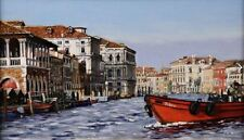 """NEW ORIGINAL HUGH BEATTIE OIL """"The Centre of the Grand Canal""""  Venice PAINTING"""