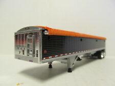 DCP 1/64 SCALE WILSON GRAIN TRAILER (HOPPER BOTTOM)  BLACK WITH ORANGE TARP