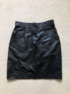 Leather Skirt Mini Vintage Retro Size 10/12 Labelled 14 Urban