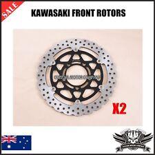 2x Front Brake Disc Rotor Kawasaki NINJA ZX6R 2005-2011 ZX10R 2004-2007 ZX1000