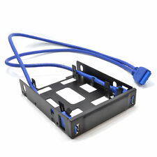 3.5 Drive Bay Mounting Chasis for 2.5 SSD/HDD with 2 Port USB 3 Hub [008502]