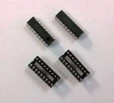 HT12E & HT12D Encder / Decoder ICs + 2 X 18 Pin IC Base Combo.