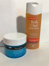 Neutrogena Hydro Boost Hydrating Whipped Body Balm AND Body Clear Body Scrub.