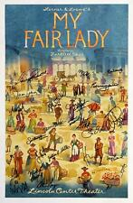 Laura Benanti, Danny Burstein + Cast Signed MY FAIR LADY Poster