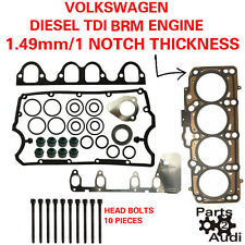 OE Cylinder Head Gasket Set With Bolts VW Diesel 1.9 BRM Eng. 1 NOTCH