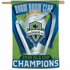 2019 MLS Champions Seattle Sounders 28x40 Banner
