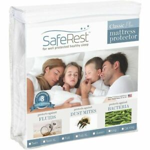 SafeRest Classic Plus Full Size Hypoallergenic Waterproof Mattress Protector NEW