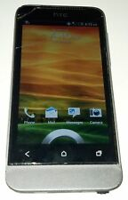 HTC One V 4GB Gray U.S. Cellular Android Smartphone Cracked Glass Bad Digitizer