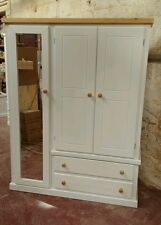BEDROOM AYLESBURY COUNTRY STYLE IVORY TRIPLE WARDROBE (MIRRORED) NO FLAT-PACK!!!