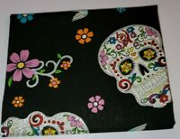 Halloween Day Of The Dead Skull  Glitter Fabric David Textiles Fat Quarter 18x21