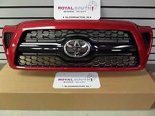 Toyota Tacoma Sport Barcelona Red 3R3 Honeycomb Grille Genuine OEM OE