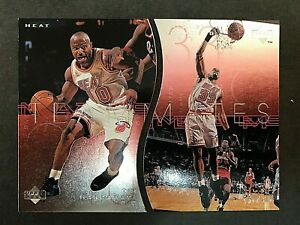 1997-98 Upper Deck Teammates #T27 & #T28 Tim Hardaway and Alonzo Mourning Lot
